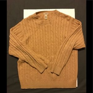 L.L. Bean Cable Knit Sweater 100% Lambswool